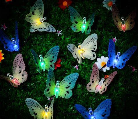 Butterfly String Lights by 3m 10leds Solar Fiber Butterfly String Light Led