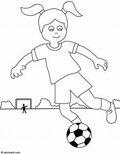 Kids Playing Football Clipart Black And White - ClipartXtras