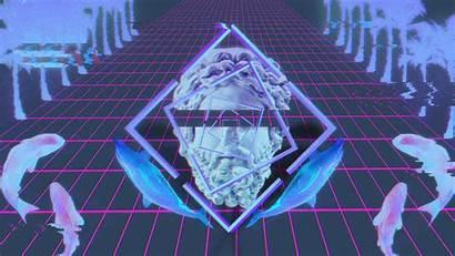 Vaporwave Glitch Wallpapers Statue Desktop Background 1080