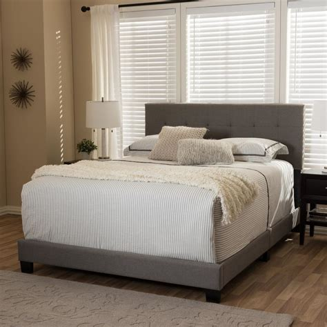 3162 grey upholstered king bed baxton studio brookfield contemporary gray fabric