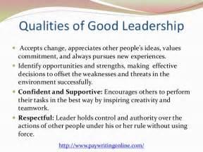 leaders bad  good qualities