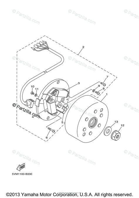 Yamaha Atv Oem Parts Diagram For Generator