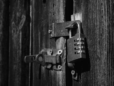 Light, Black And White, Wood, Number, Shed