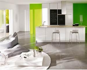 Good idee peinture salon cuisine ouverte 1 indogate for Idee deco cuisine peinture