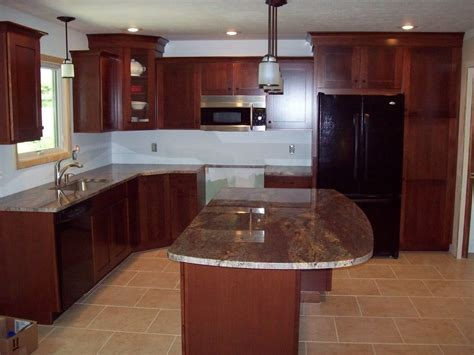 cherry cabinets with gray countertops dark cherry kitchen cabinets home furniture design