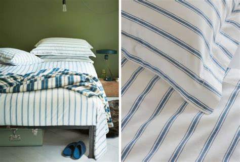 easy pieces striped sheets remodelista
