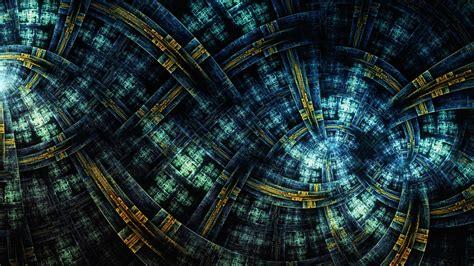 wallpaper cross links depth fractals hd abstract