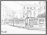 Coloriage Metro Imprimer Dessin Tramway Tram Colorier Belle Coloriages Hellokids Tgv Une Dessins sketch template