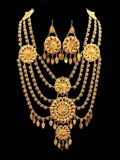 Gold Jewelry Necklace Bridal 21k Arabic Alquds