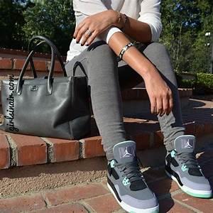 Girls-wearing-jordans-and-air-max-kicks-green-glow-outfit | Jordans | Pinterest | Jordans 2014 ...
