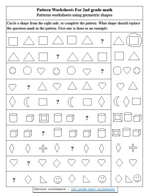 pattern worksheets for 4 worksheets for all and