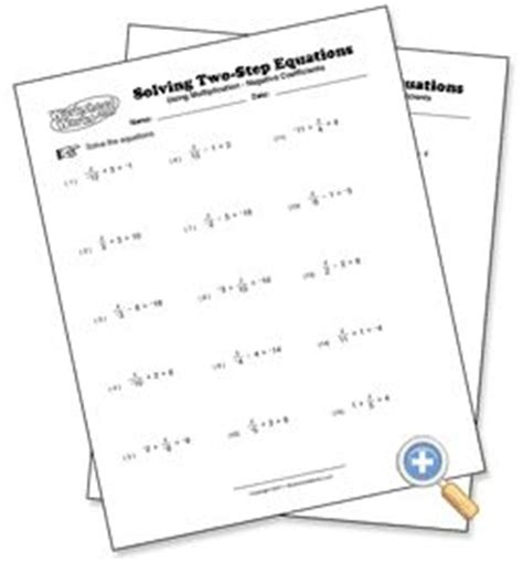 using multiplication solving two step equations