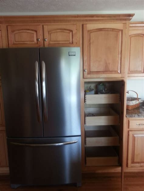 cabinets around fridge cabinet around refrigerator ideas for the house