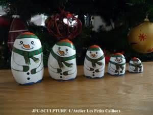 Galets Peints Noel artisanat d art galets peints quot s 233 rie bonhommes de neige