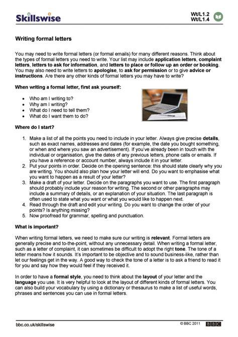 write  formal letter bbc