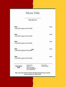 Template For To Do List Restaurant Menu Templates Graphics And Templates