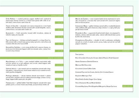 dining menu template free free restaurant menu templates sles and templates