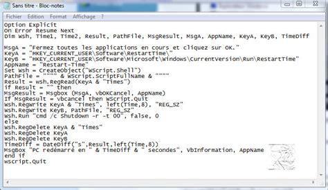 telecharger un bloc note pour le bureau un script vbs pour mesurer le temps de émarrage de