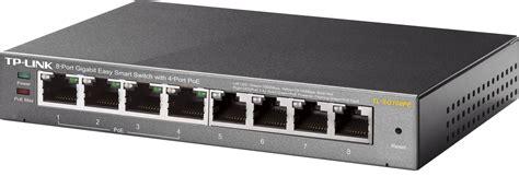 TPLINK TLSG108PE Switch, 8Port, Gigabit Ethernet, PoE