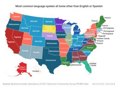 map shows   commonly spoken language