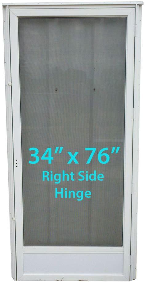 mobile home screen door mobile home view door 34x76 rh white with screen