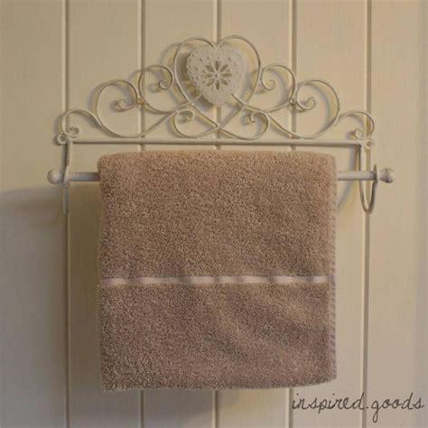 shabby chic towel rail vintage metal heart towel rail shabby chic bathroom wall kitchen roll holder ebay