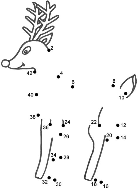 rudolph  red nosed reindeer connect  dots count