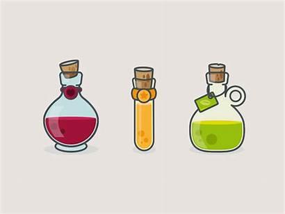 Potions Magic Icons Fantasy Science Icon Drawing