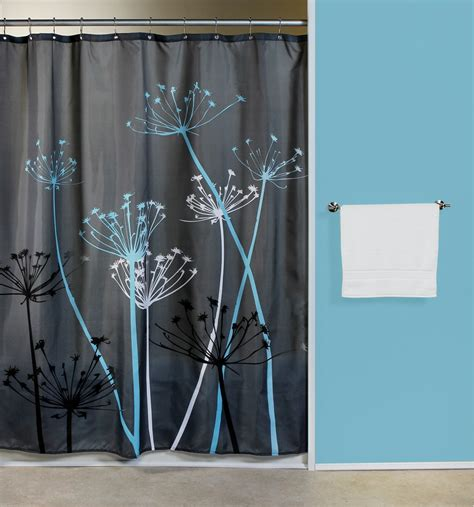 thistle gray blue fabric shower curtain curtain bath outlet