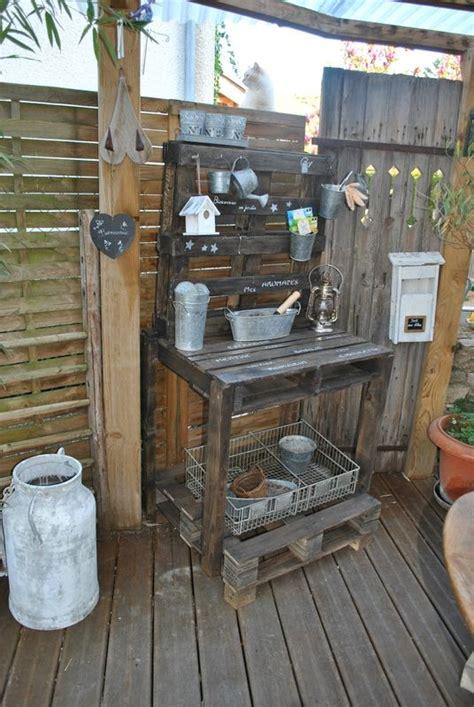 table de rempotage en palettes la cabane aux