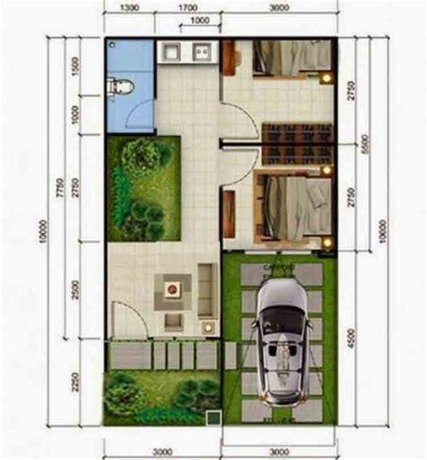 denah rumah type  desain minimalis   lantai