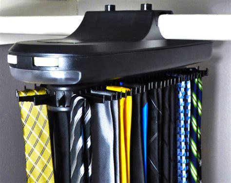 Belt Holder For Closet by Tie Belt Necktie Revolving Rotates Hanger Organizer Closet