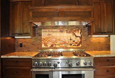 kitchen murals backsplash copper color or copper backsplash installation pictures