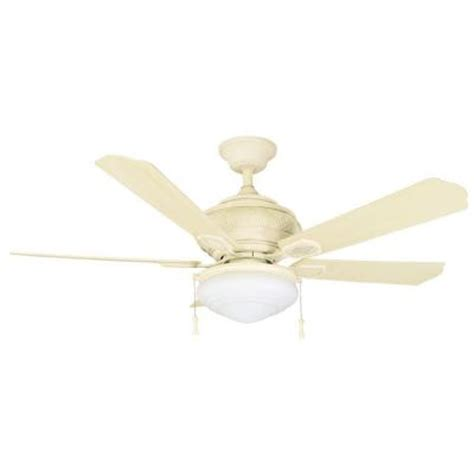 Home Depot Ceiling Fans White by Hton Bay Portsmouth 52 In Outdoor Vintage White