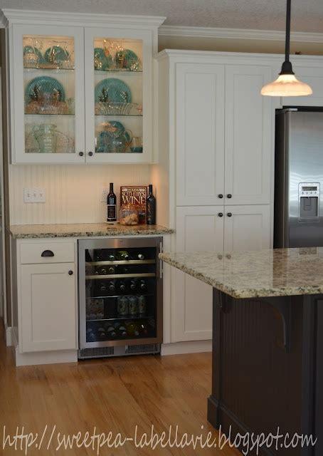 diy beverage center  hubs built  kitchen  heart