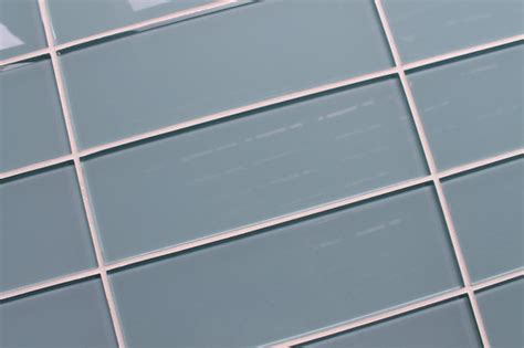 Light Blue Ceramic Subway Tile by Jasper Light Blue Gray 4 Quot X 12 Quot Glass Subway Tile