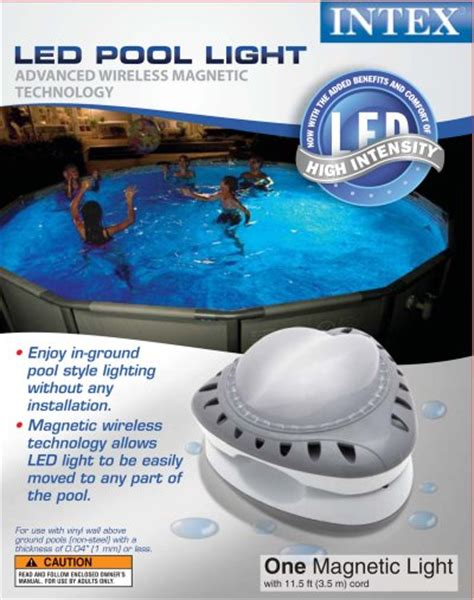 Intex Pool Light by Intex Above Ground Led Magnetic Swimming Pool Light