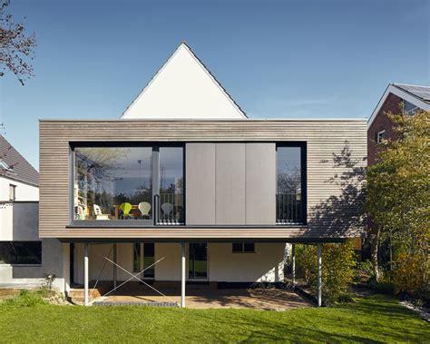 Moderne Häuser Mit Grossen Fenstern by Anbau Holz Modern Stahltr 228 Ger Holzverkleidung Fenster