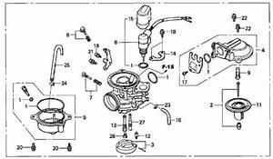 Honda Oem Carburetor Assembly Elite 80 1986