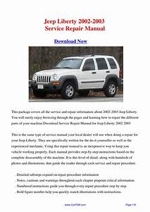 Jeep Liberty 2002-2003 Repair Manual By Gong Dang