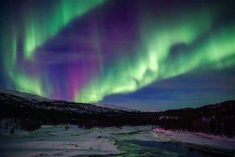 aurora borealis northern lights sky star mountain night