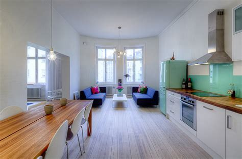 Open Concept Apartment Design in Stockholm