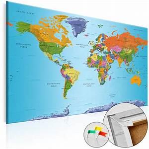 Carte Du Monde En Liège : tableau liege image sur toile xxl art carte du monde k a 0104 p b ebay ~ Teatrodelosmanantiales.com Idées de Décoration