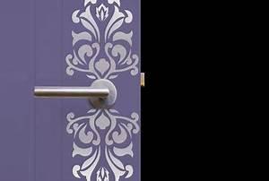 pochoir plaque de porte peinture metal couleur argent With pochoir pour peinture murale