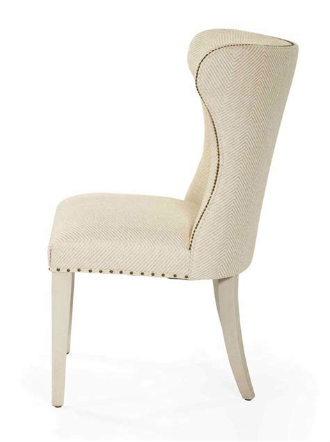 salon upholstered wing dining chair home sweet home