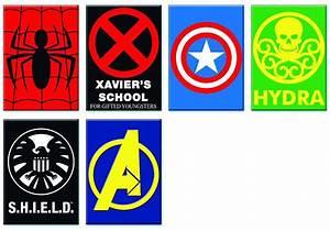 Buy Novelties Comic Material MARVEL HEROES LOGOS 6PC
