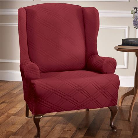 chair slipcover stretch wing chair slipcovers