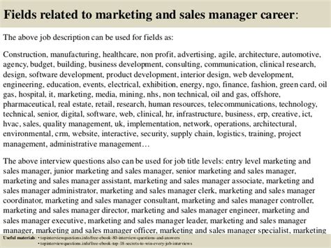 Retail Sales Questions From Manager by Top 10 Marketing And Sales Manager Questions And