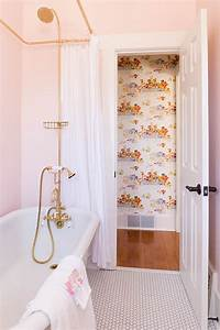 before after all hail the pink bathroom designsponge With pink and cream bathroom