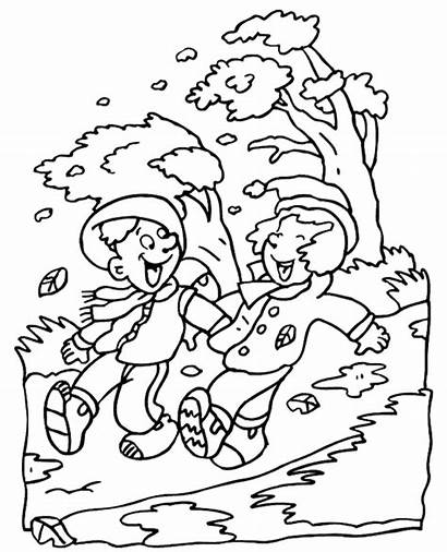 Coloring Colouring Wind Autumn Windy Sheet Books
